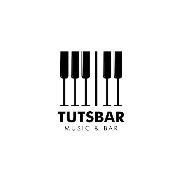 Musik und bar logo vektor Premium Vektoren