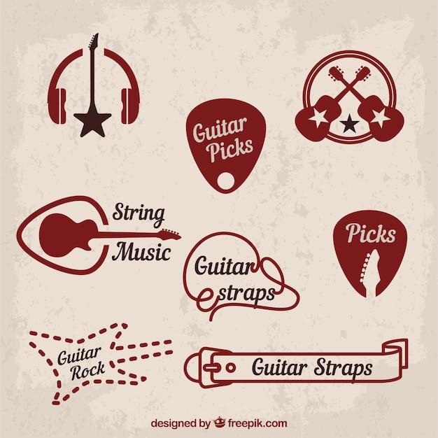 Musik und klassischen rock-symbole Premium Vektoren