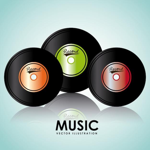 Musik vinyl grafikdesign Kostenlosen Vektoren
