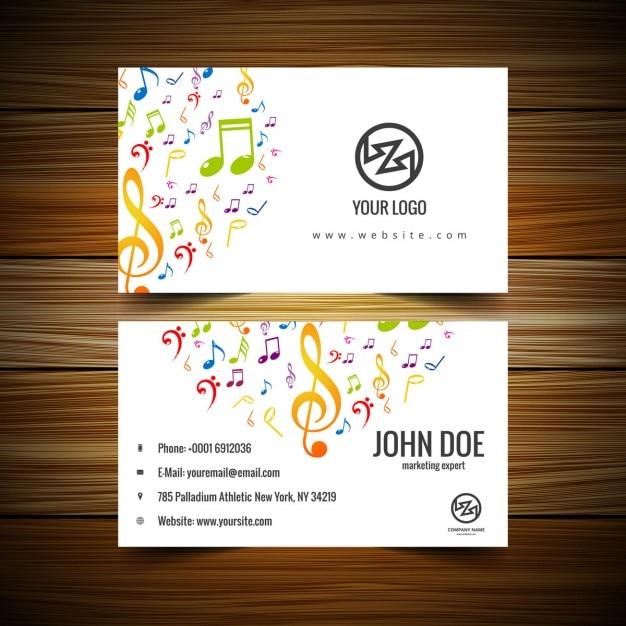 Musik Visitenkarte Kostenlose Vektor