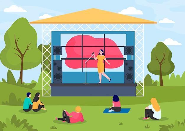 Musikfestival im freien Kostenlosen Vektoren
