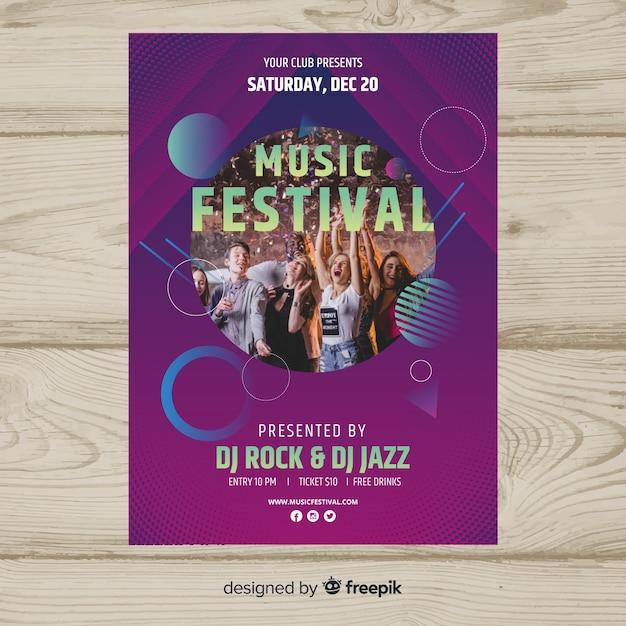 Musikfestival-poster Kostenlosen Vektoren