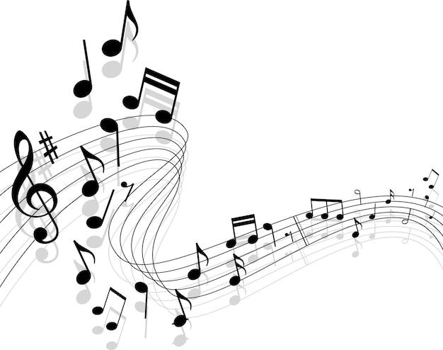 Musikhintergrund Premium Vektoren