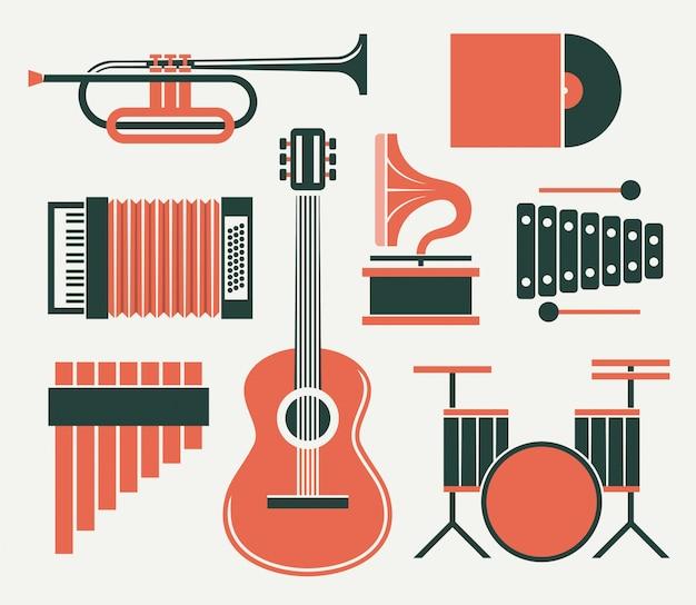 Musikinstrument illustration Premium Vektoren