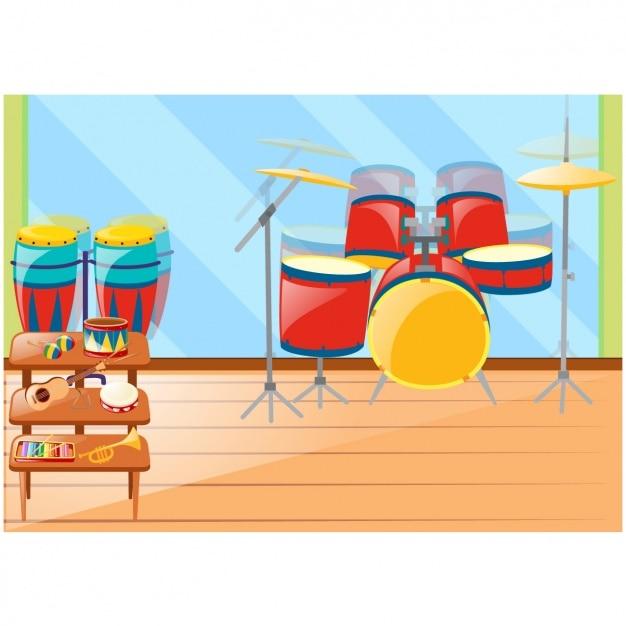 Musikinstrumente hintergrund Kostenlosen Vektoren