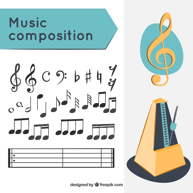 Musikkomposition Kostenlosen Vektoren