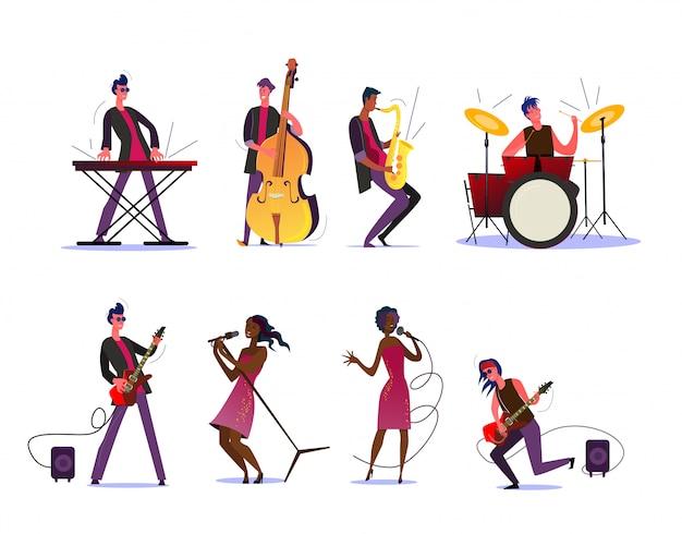 Musikshow oder konzert-set Kostenlosen Vektoren