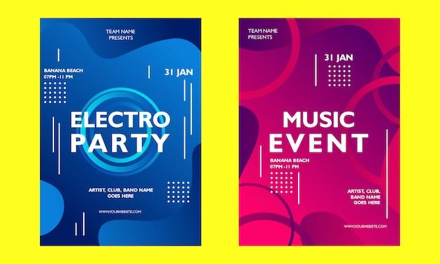 Musikveranstaltung gradienten plakat vorlage Premium Vektoren