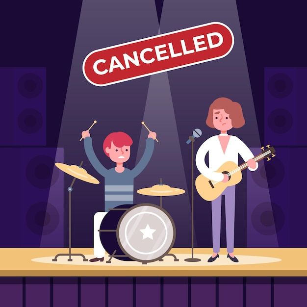 Musikveranstaltungen abgesagt Kostenlosen Vektoren