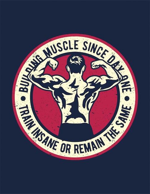 Muskelaufbau Premium Vektoren