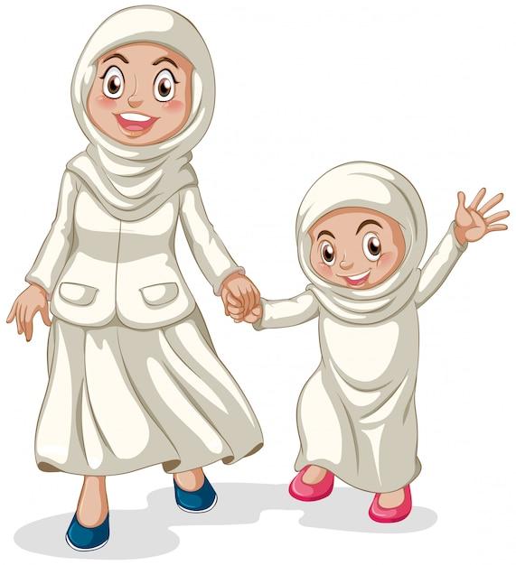 Muslim Kostenlosen Vektoren
