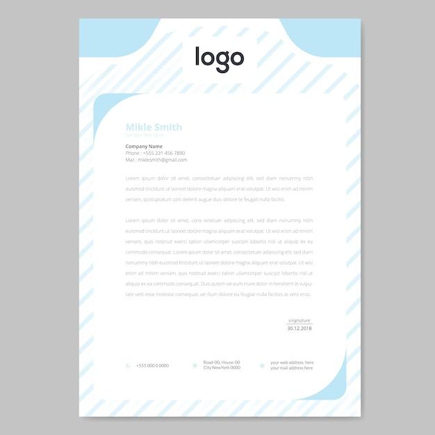 Muster briefkopf design Premium Vektoren