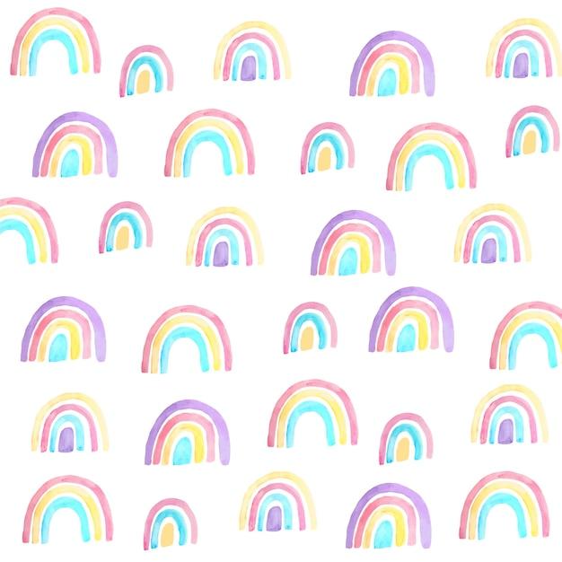 Muster der bunten gemalten regenbogen Kostenlosen Vektoren