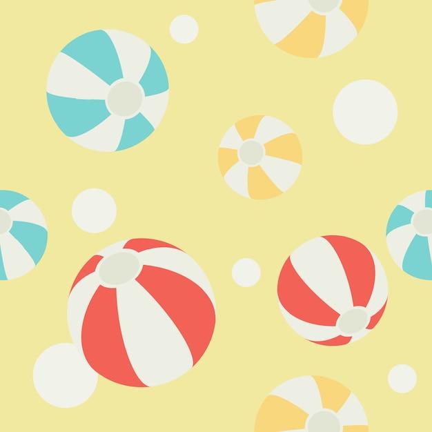 Muster des beachball- und abstrakten kreishintergrundes Premium Vektoren