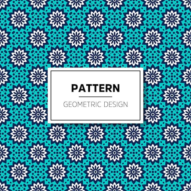Muster-hintergrunddesign der schönen mandala nahtloses Premium Vektoren