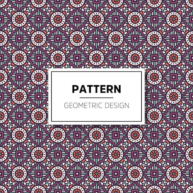 Muster-hintergrunddesign der schönen mandala nahtloses Kostenlosen Vektoren