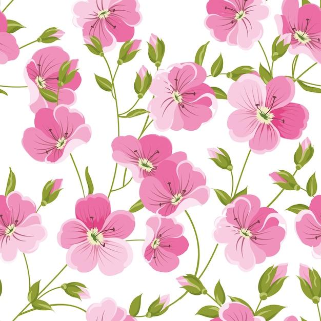 Muster mit roten blüten und kleinen blättern. Premium Vektoren