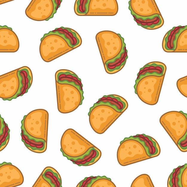 Muster nahtlos von taco Premium Vektoren