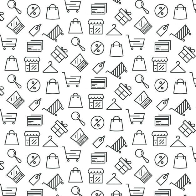 Muster über shopping Kostenlosen Vektoren