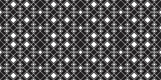 Muster-vektorschablone der minimalen weinlese des schwarzweiss-quadrats nahtlose Premium Vektoren