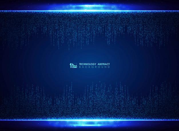 Musterdesign-dekorationshintergrund der technologie blauer quadratischer Premium Vektoren