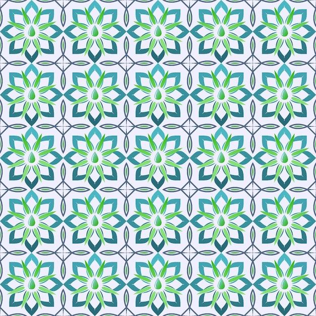Musterillustration der geometrischen form des cakra Premium Vektoren