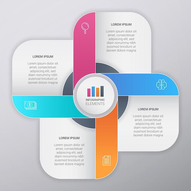 Muticolor business infographic template design Premium Vektoren