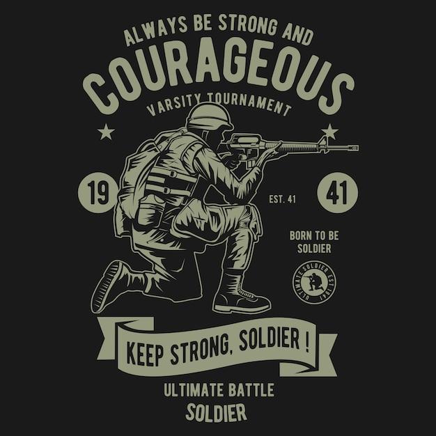 Mutig vom soldaten Premium Vektoren