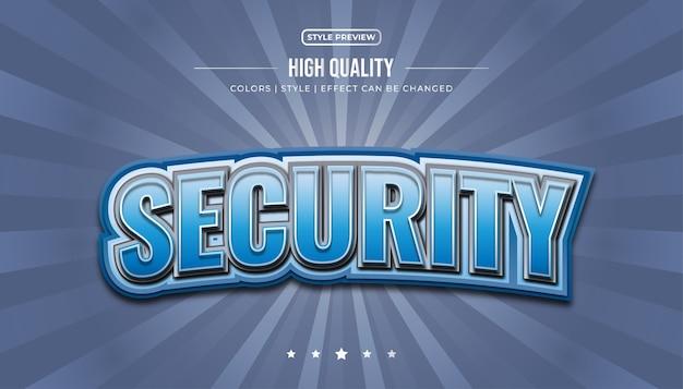 Mutiger blauer textstil mit 3d- und gebogenen effekten für eine e-sport-identität oder einen logo-namen Premium Vektoren