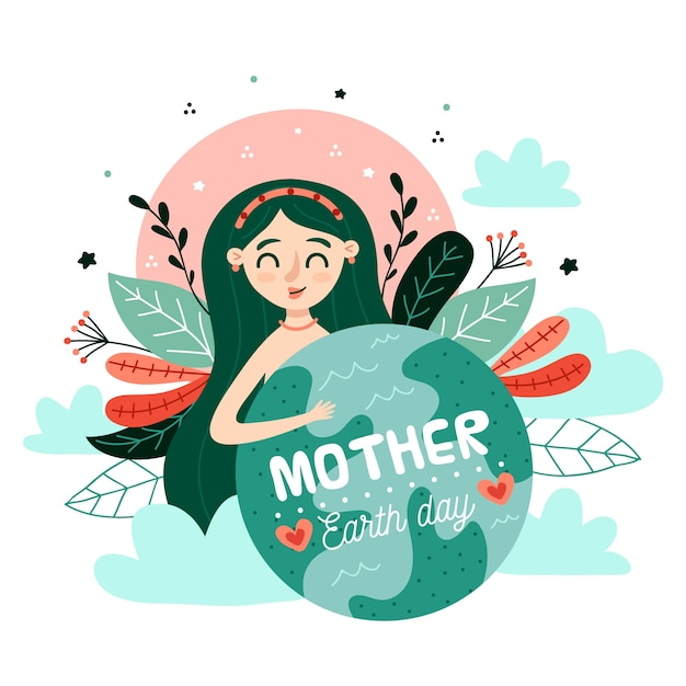 Mutter erde tag aquarell hintergrund Kostenlosen Vektoren