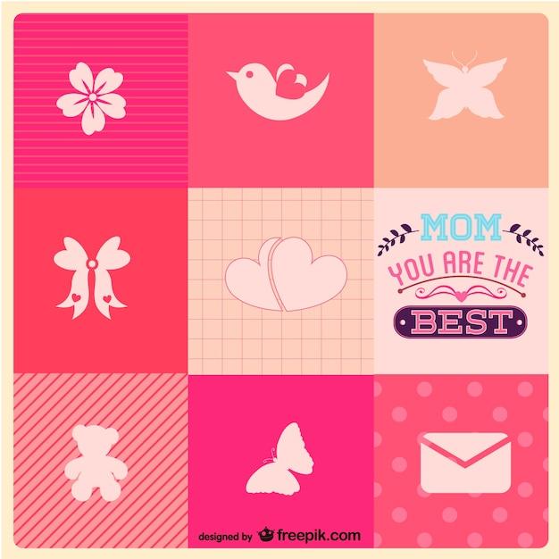 Muttertag kostenlose Icons Vorlage   Download der kostenlosen Vektor