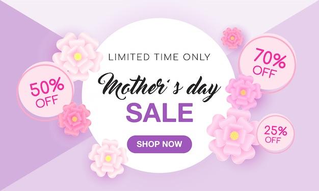 Muttertags-verkaufsfahne Premium Vektoren