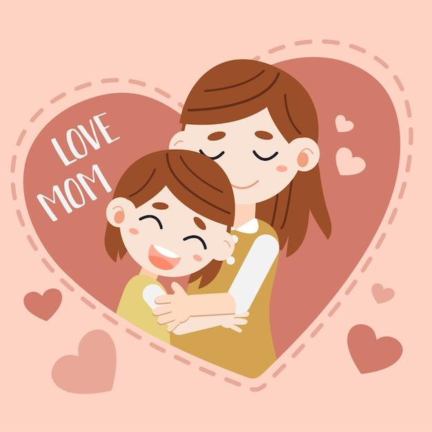 Muttertagskarte Premium Vektoren