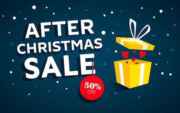 Nach weihnachten verkauf konzept banner Premium Vektoren