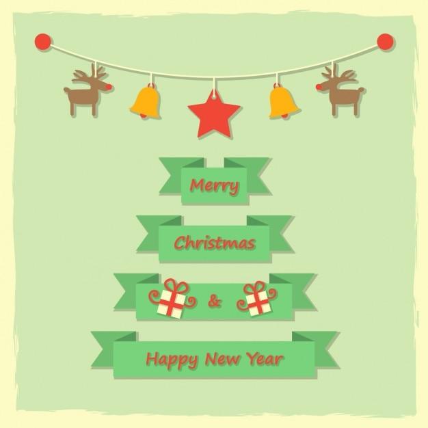 Nachricht frohe Weihnachten und guten Rutsch ins neue Jahr ...