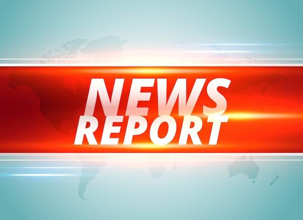 Nachrichtenbericht konzept hintergrunddesign Kostenlosen Vektoren