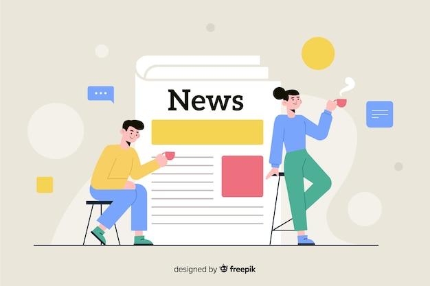 Nachrichtenkonzept für zielseite Kostenlosen Vektoren