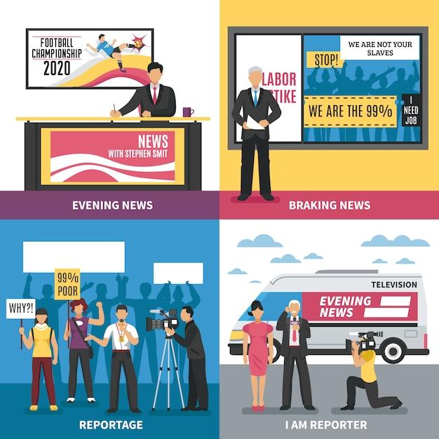 Nachrichtenkonzept Kostenlosen Vektoren