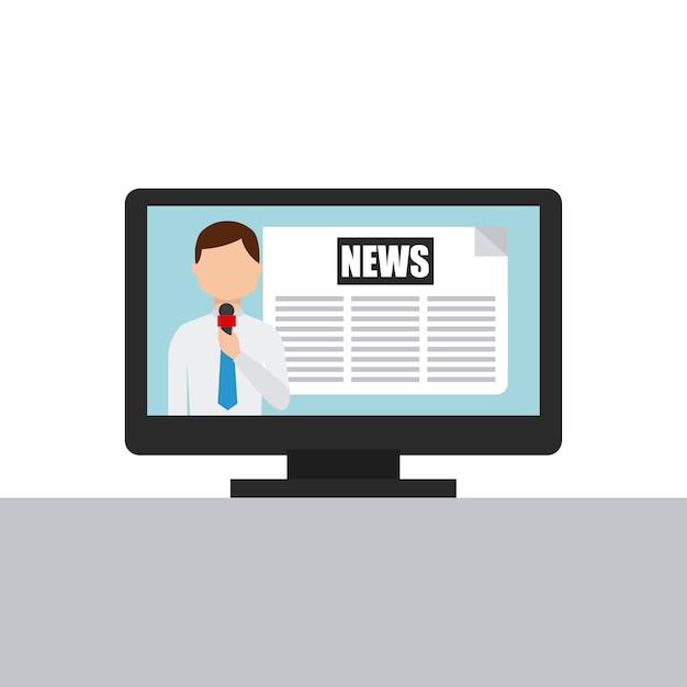 Nachrichtenkonzeptdesign, grafik der vektorillustration eps10 Premium Vektoren