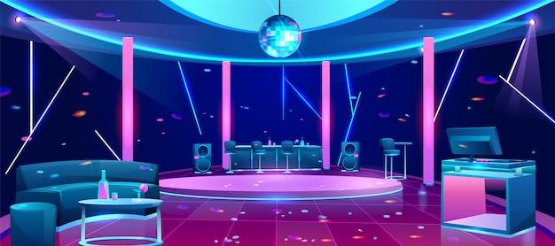 Nachtclub tanzfläche illustration Kostenlosen Vektoren