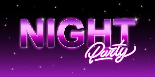 Nachtfest mit schriftzug Premium Vektoren