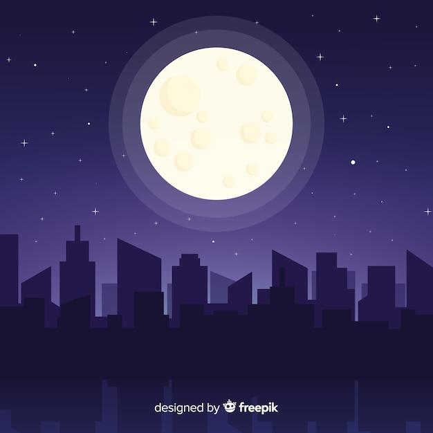 Nachthimmel hintergrund Kostenlosen Vektoren