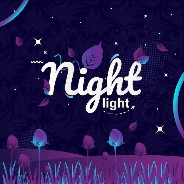 Nachtlicht typografie vektor-illustration Premium Vektoren