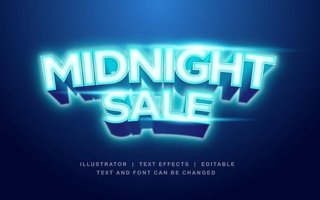 Nachtverkauf, fröhlicher shop-texteffekt Premium Vektoren