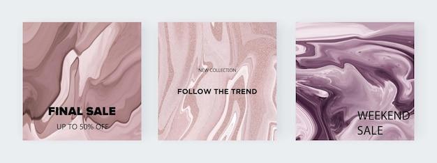 Nackte flüssige textur für social media Premium Vektoren