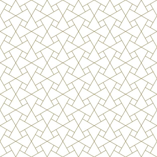 Nahtlose arabische geometrische verzierung in der braunen farbe. Premium Vektoren