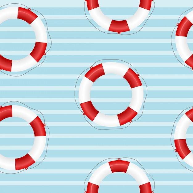 Nahtlose beschaffenheit einer schwimmweste Premium Vektoren