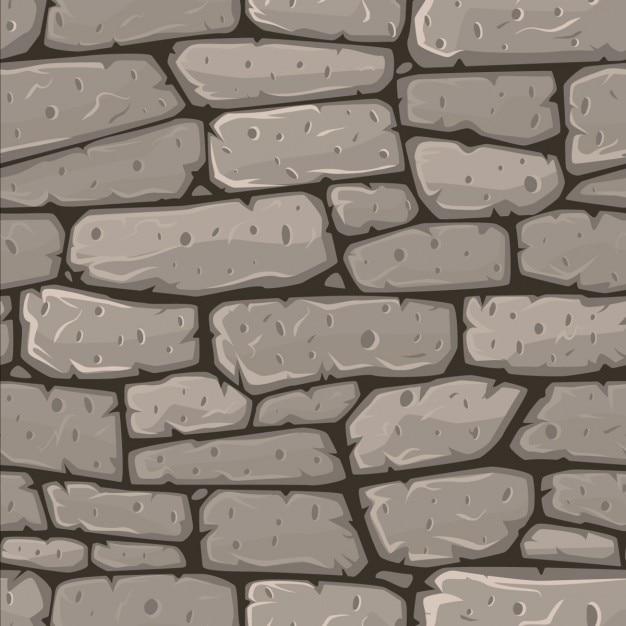 Nahtlose cartoon stein textur vektor-illustration Kostenlosen Vektoren
