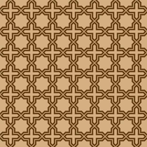 Nahtlose geometrische verzierung basiert auf traditioneller arabischer kunst. Premium Vektoren