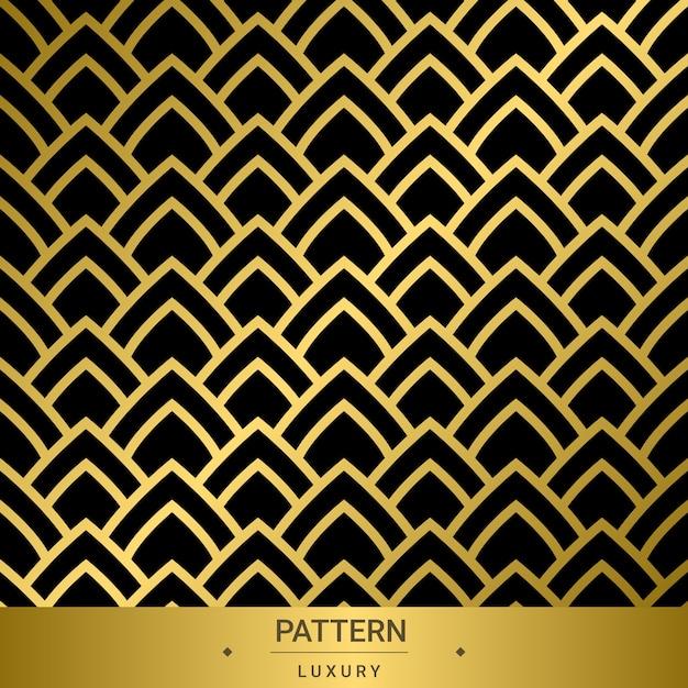 Nahtlose goldene luxusmuster auf schwarzem hintergrund Premium Vektoren